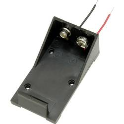 Bateriový držák na 1x 9 V TRU COMPONENTS BH9VA, kabel