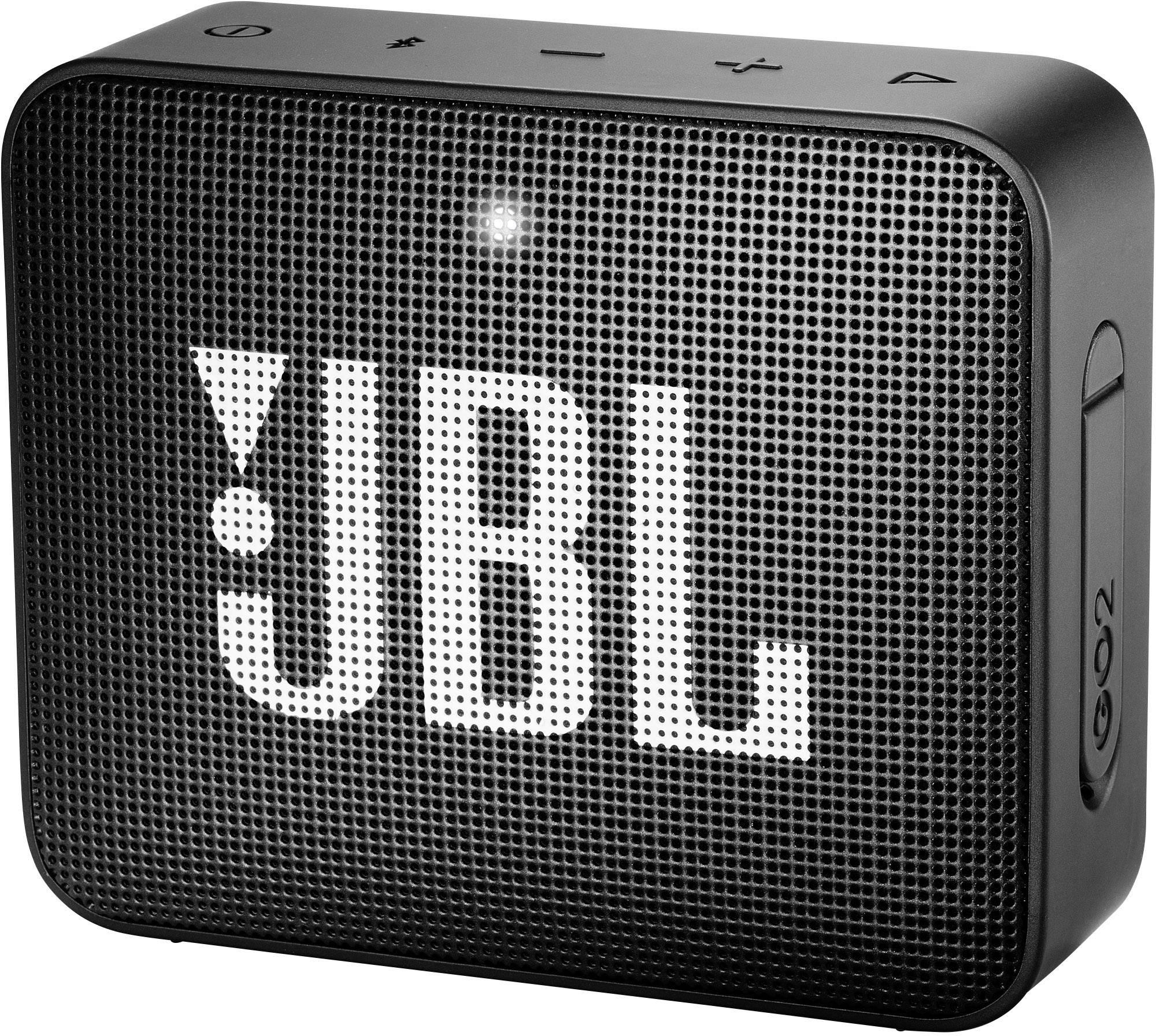 Bluetooth® reproduktor JBL Go2 AUX, hlasitý odposluch, outdoorová/ý, vodotesný, čierna