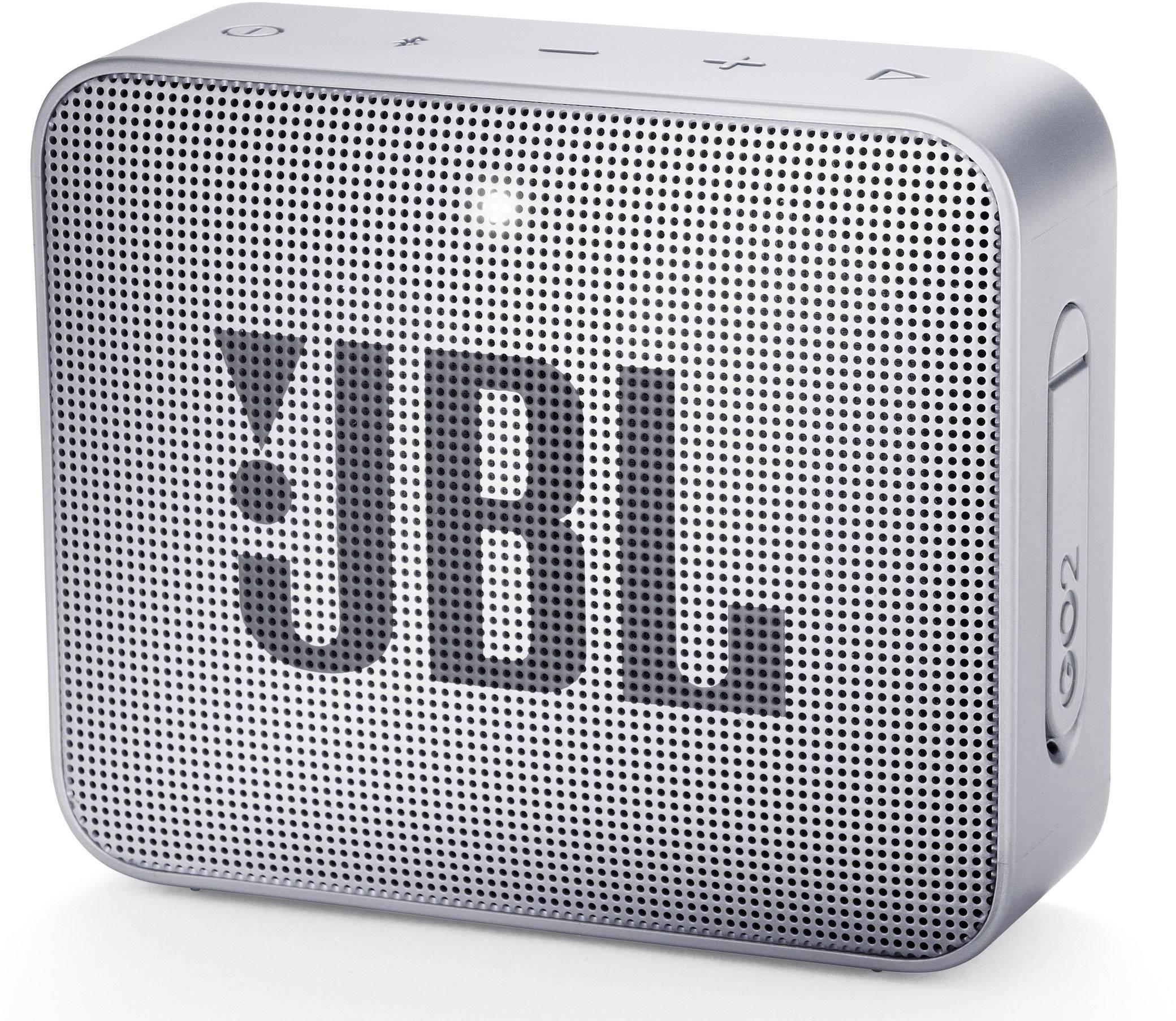 Bluetooth® reproduktor JBL Go2 AUX, hlasitý odposluch, outdoorová/ý, vodotesný, sivá