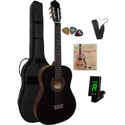 Sada koncertní kytary MSA Musikinstrumente C 21 Set Clip 4/4 černá vč. tašky