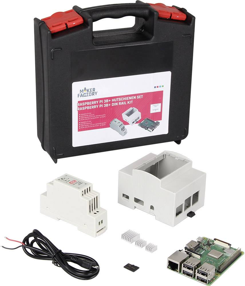 Raspberry Pi® 3 Model B+ MAKERFACTORY MF-R3B+ Hutschienenset 1 GB