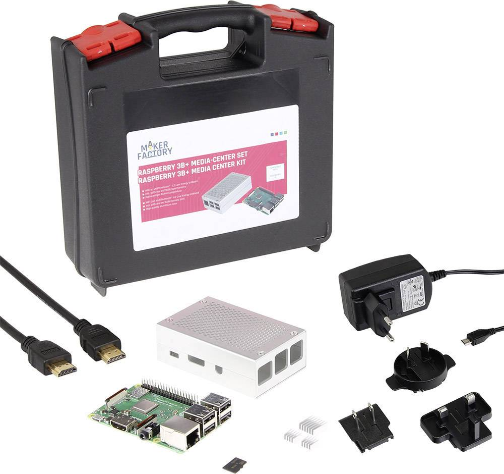 Raspberry Pi® 3 Model B+ MAKERFACTORY MF-R3B+ Media Center Set 1 GB