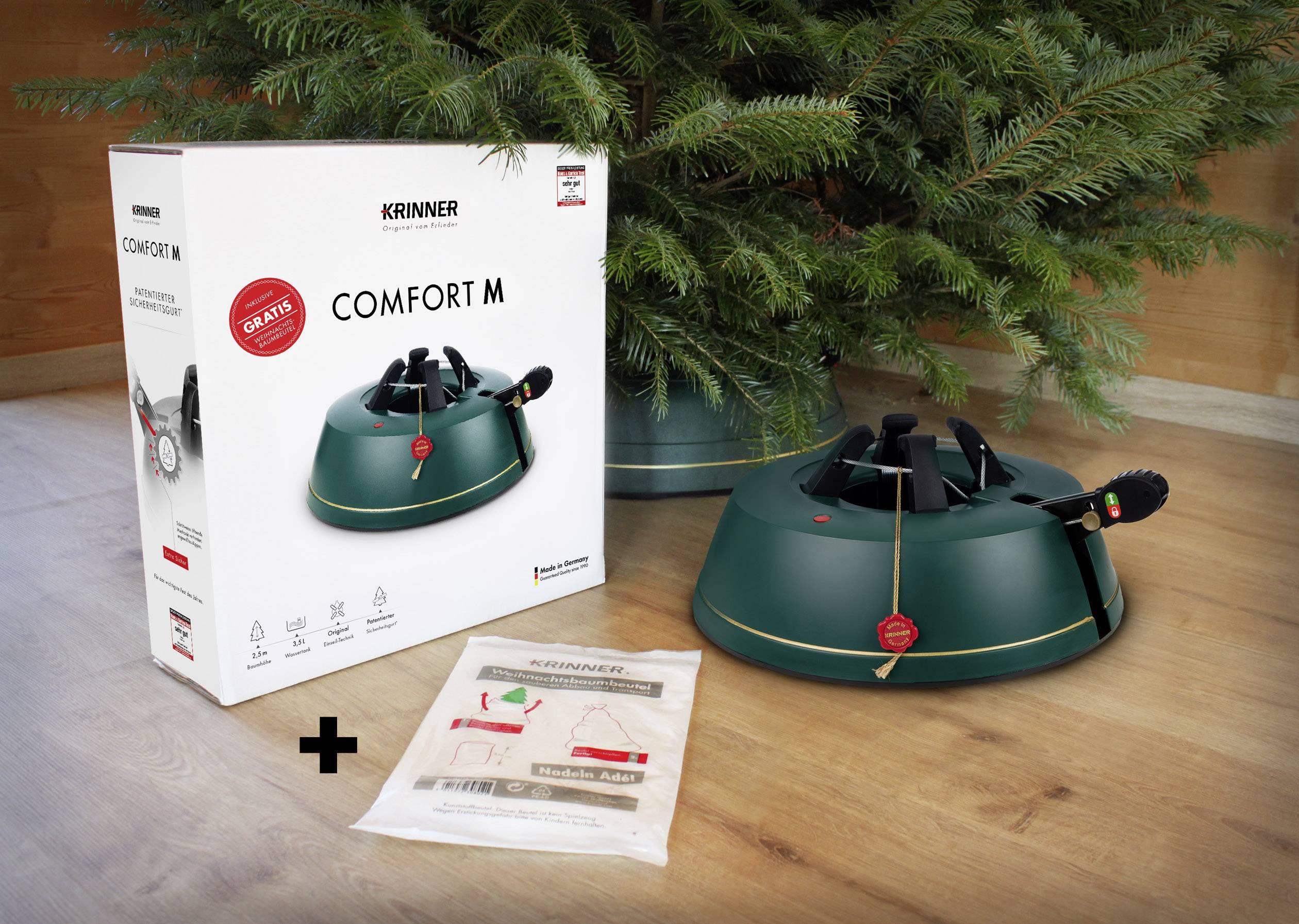 Stojánek na vánoční stromeček Krinner Comfort L inkl. Baumbeutel 94137, zelená