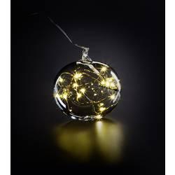 Skleněná koule vánoční koule Krinner Lumix Light Ball M 76040, čirá