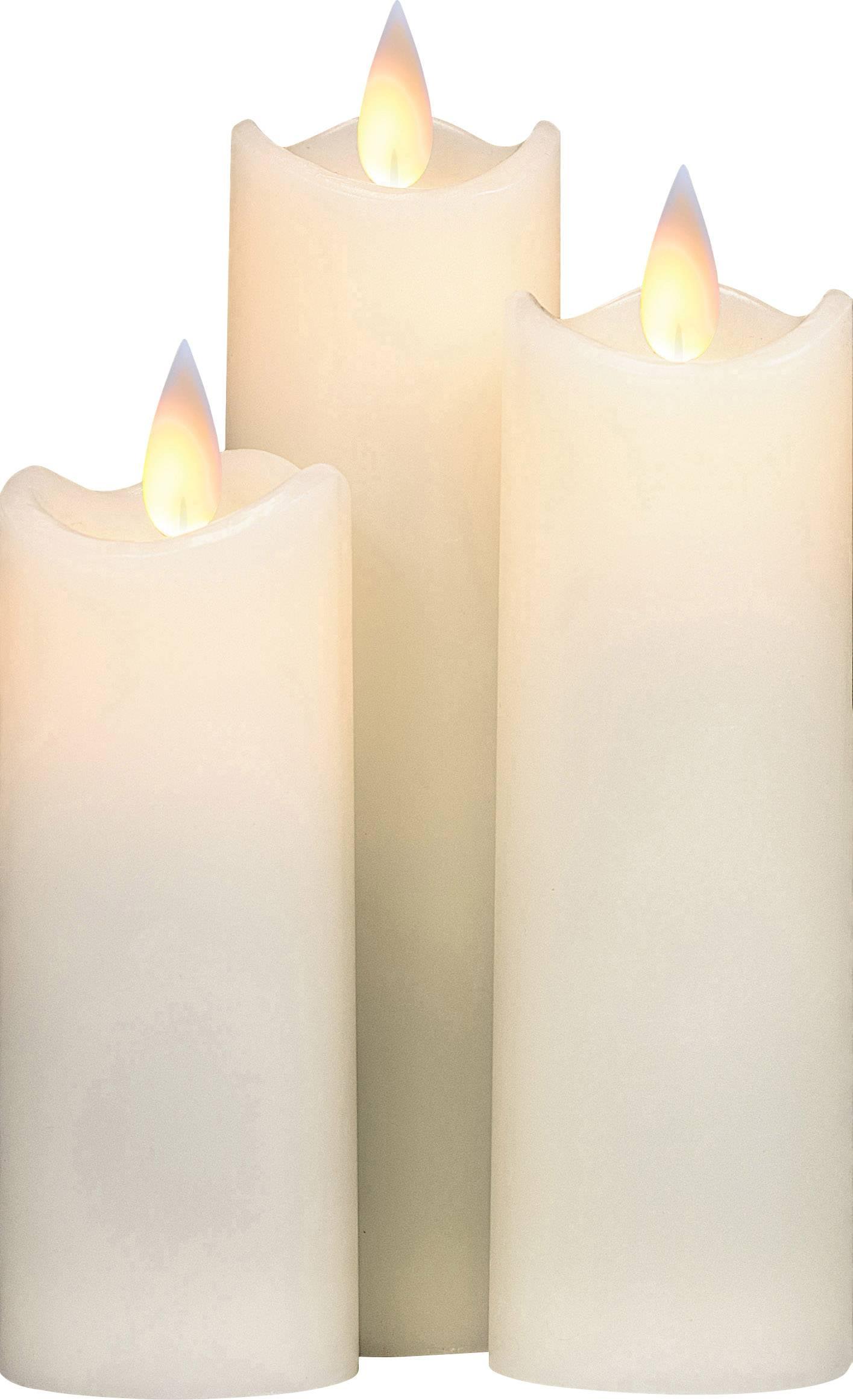LED vosková svíčka Polarlite vnitřní, slonová kost, 1 ks