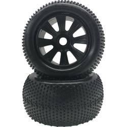 Kompletné kolesá Multipin Reely 313011C pre truggy, 140 mm, 1:8, 2 ks, čierna