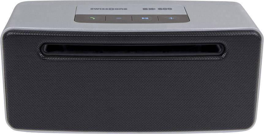 Bluetooth® reproduktor swisstone BX 600 hlasitý odposlech (mikrofon pro telefonování), černá