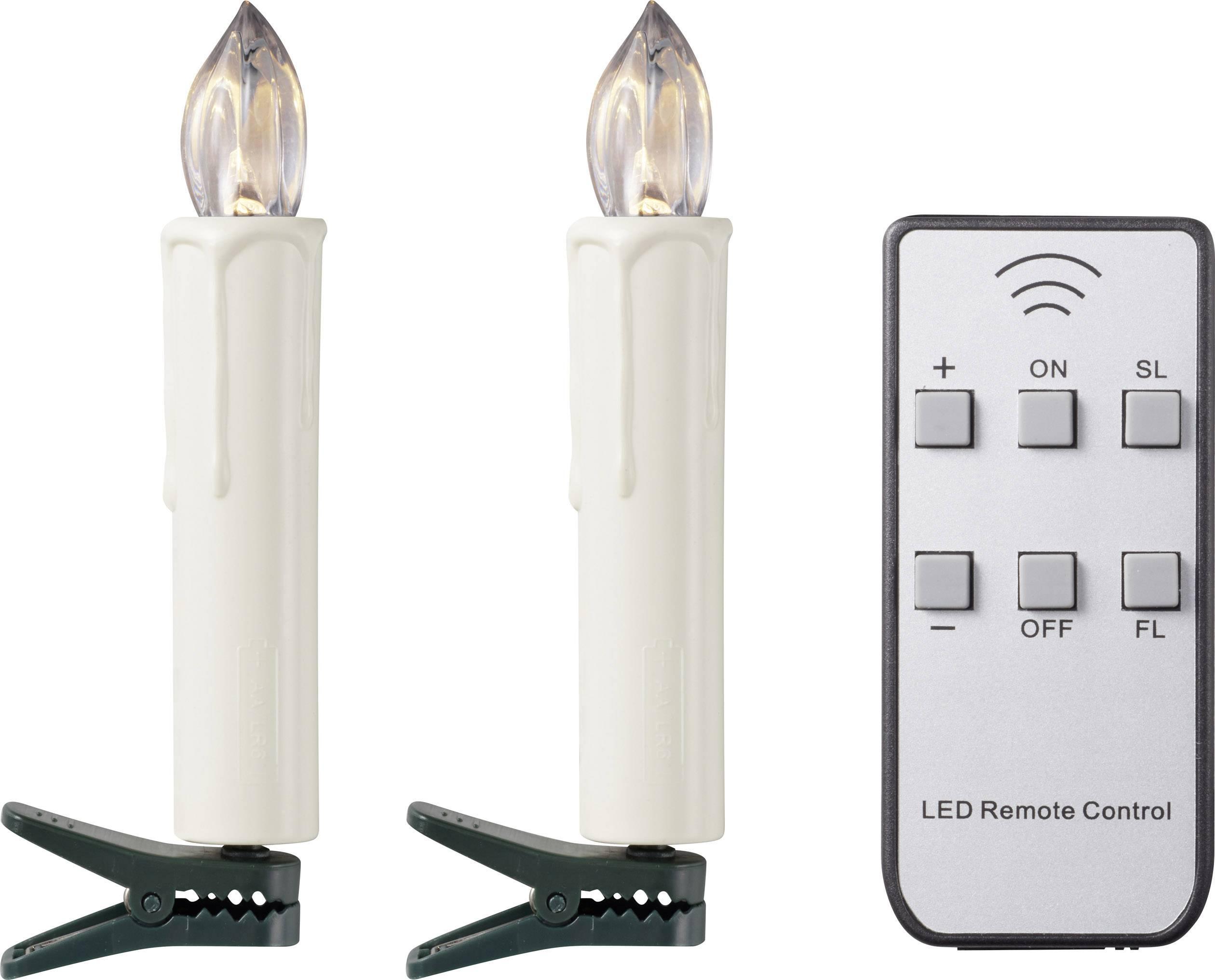 LED bezdrátové osvětlení na vánoční stromeček Polarlite PL-WK20O, venkovní PL-8392835, na baterii, teplá bílá, sada 20 ks