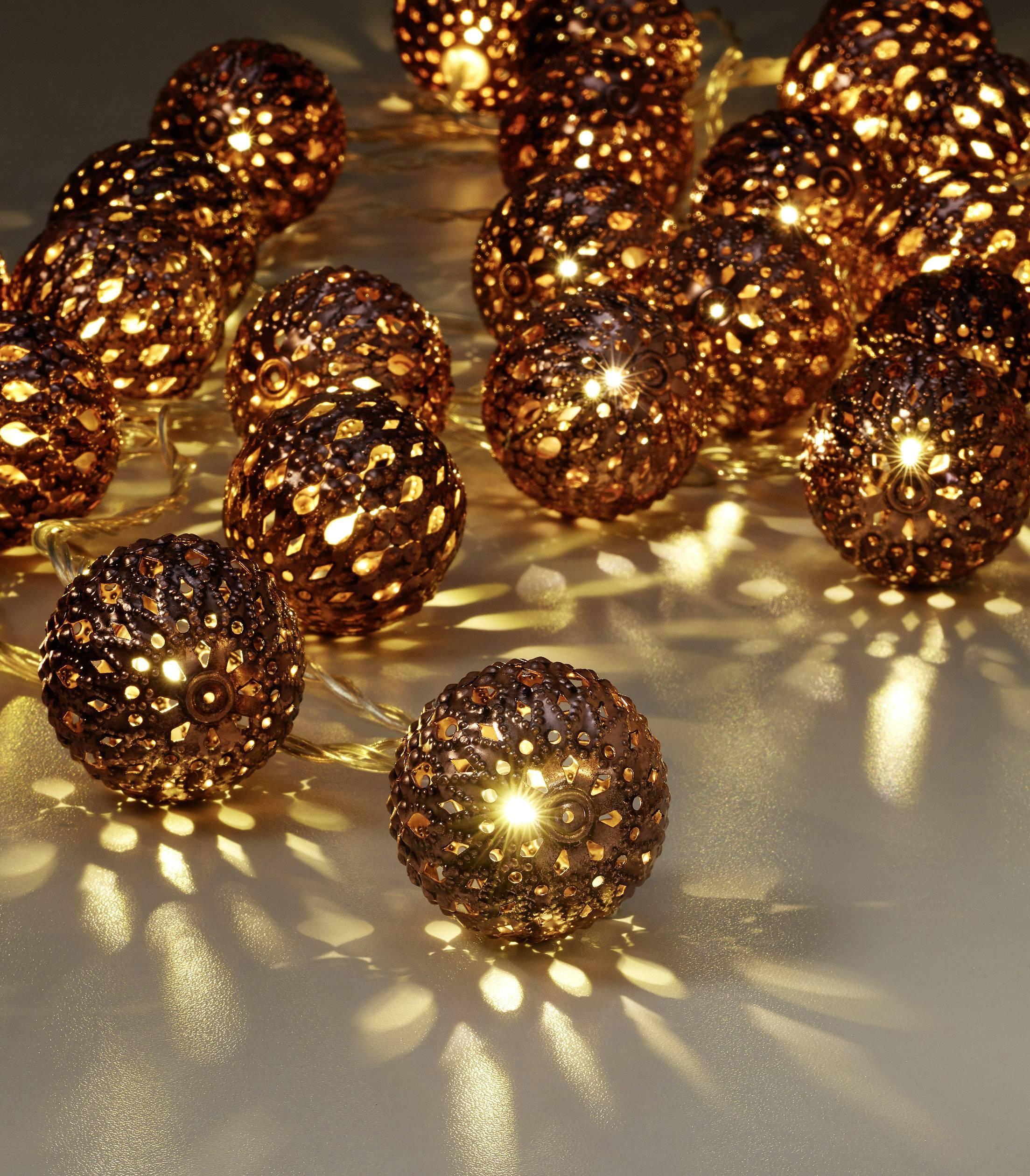 LED světelný řetěz s motivem Polarlite PLKL-30WWC, vánoční koule, vnitřní PL-8393440, 230 V, LED 30, teplá bílá, 3 m