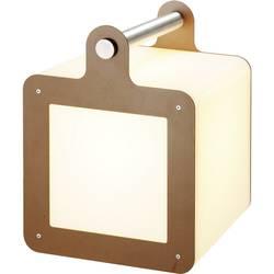 LED kostka, venkovní dekorativní osvětlení SLV Omnicube 227547, E27, 24 W, bílá, rezavá