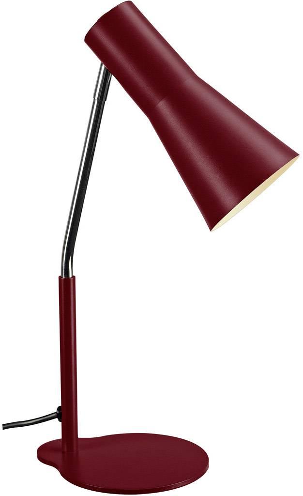 Lampička na stůl halogenová žárovka, LED GU10 35 W SLV Phelia vínově červená