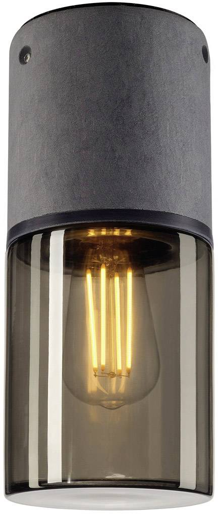 Venkovní stropní osvětlení LED, úsporná žárovka E27 23 W SLV Lisenne-O 231361 šedá, kouřová