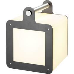 LED kocka, vonkajšiedekoračnéosvetlenie SLV Omnicube 227545, E27, 24 W, biela, antracitová