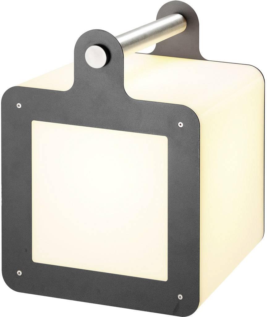 LED kostka, venkovní dekorativní osvětlení SLV Omnicube 227545, E27, 24 W, bílá, rezavá