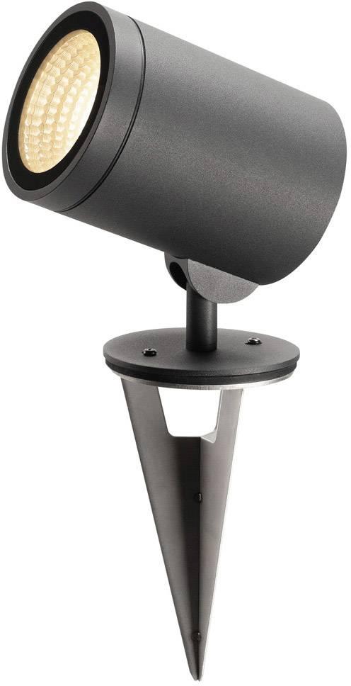 LED zahradní reflektor SLV 17 W, antracitová, antracitová