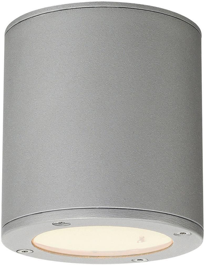 Venkovní stropní osvětlení LED, úsporná žárovka GX53 9 W SLV Sitra 231544 kamenná šedá
