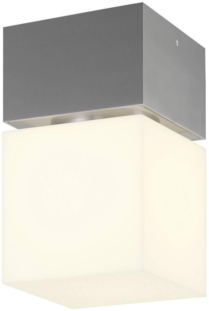 Venkovní stropní osvětlení LED, úsporná žárovka E27 20 W SLV Square 1000337 nerezová ocel
