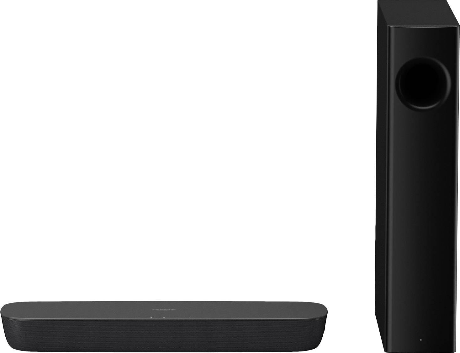 Soundbar Panasonic SC-HTB254EG Bluetooth®, vč. bezdrátového subwooferu, různé instalační možnosti , černá