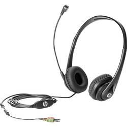 Headset k PC jack 3,5 mm na kabel HP Business V2 přes uši černá