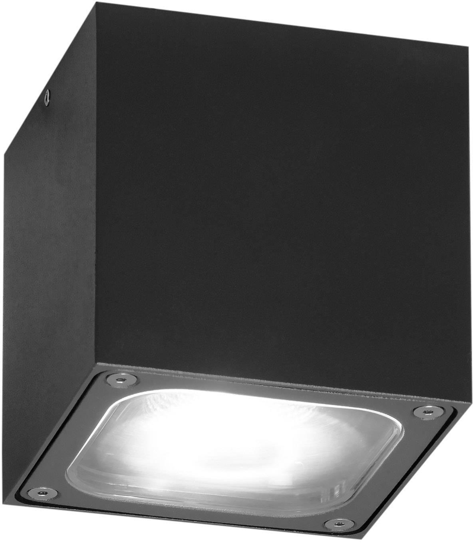 Venkovní stropní LED osvětlení Konstsmide Cesena, 7852-370, 6 W, teplá bílá, antracitová