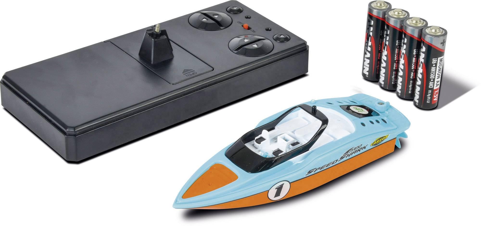 RC model motorového člunu pro začátečníky Carson Modellsport Speed Shark Nano, 145 mm, 100% RtR