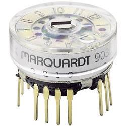Otočný spínač Marquardt 9038.0201, 28 V, 0.4 A, pozice 6, 1 x 30 °, 1 ks