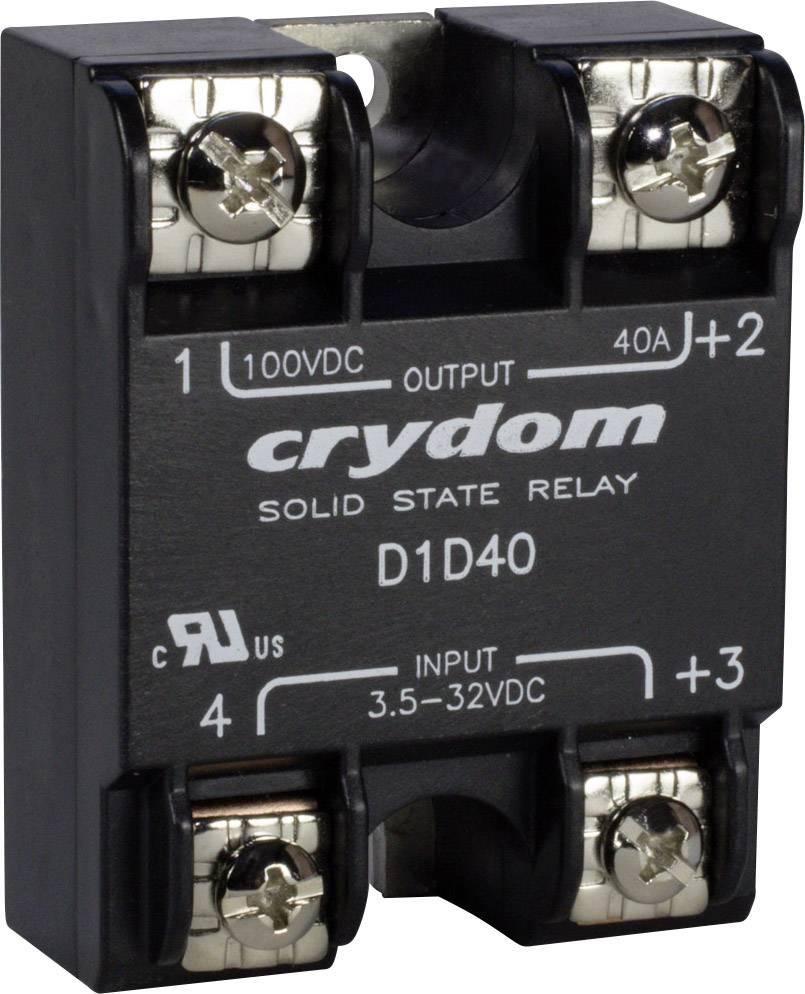 El. zátěžové relé s DC výstupem série 1-DC Crydom, D1D100, 100 A