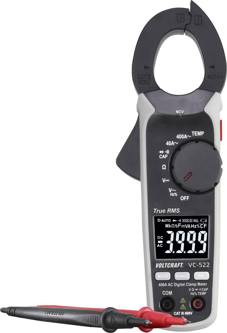 Digitálne/y prúdové kliešte, ručný multimeter VOLTCRAFT VC-522 VC-8466755