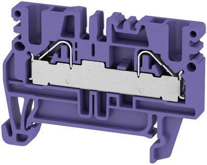 Průchozí řadové svorky, PUSH IN, 4 mm², 800 V, 32 A, počet přípojek: 2, TS 35, fialová PDU 2.5/4 VI fialová Weidmüller Množství: 2000 ks