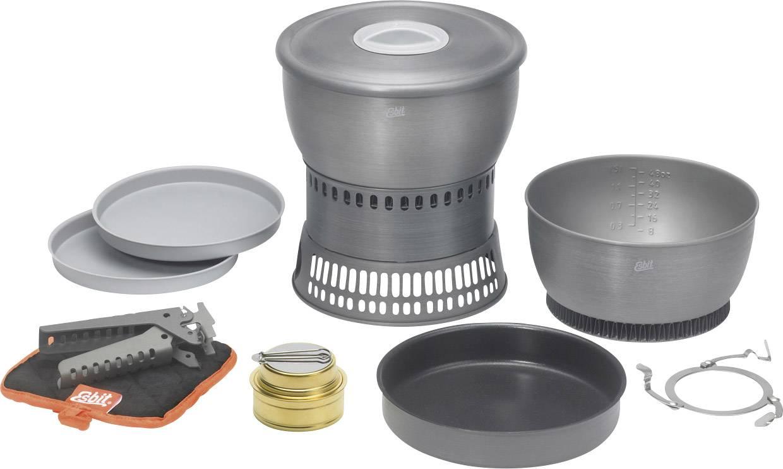 Kempingový vařič Esbit Spirit cookset CS2350WN, hliník