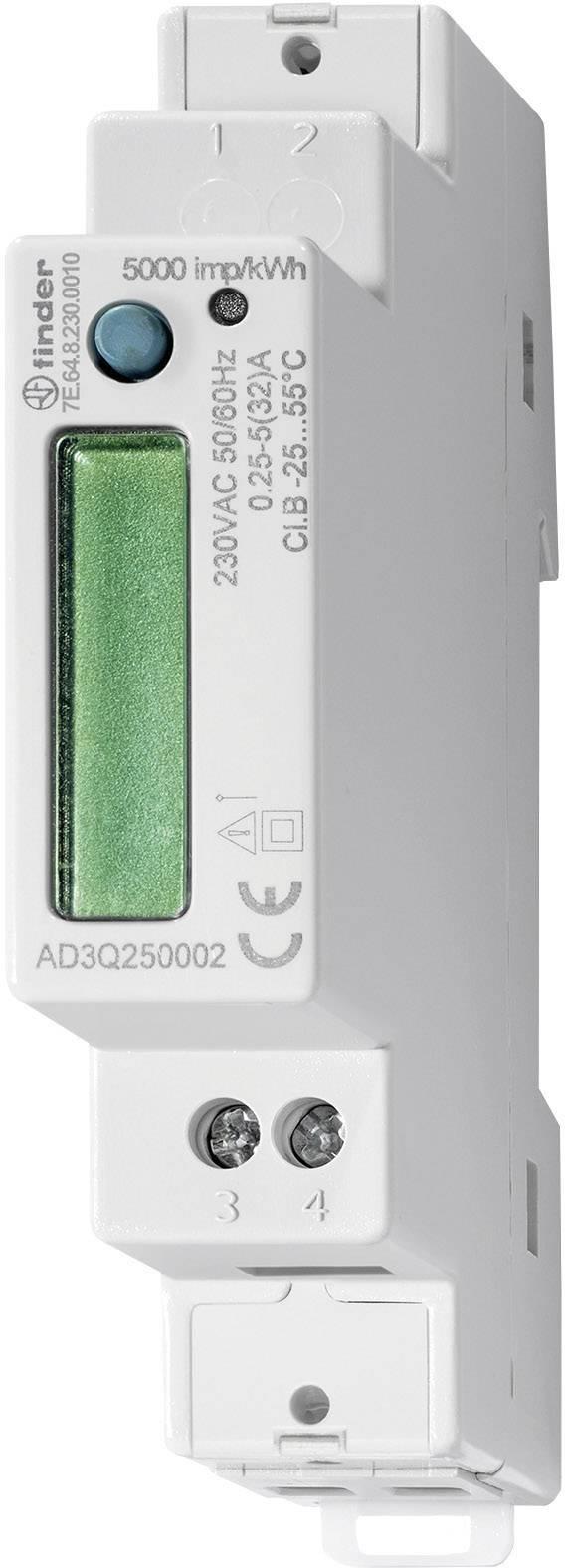 Jednofázový elektroměr digitální Úředně schválený: Ano Finder 7E.64.8.230.0010