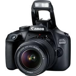 Digitální zrcadlovka Canon EOS 4000D Kit 18-55mm III vč. EF-S 18-55 mm IS II 18 MPix černá optický hledáček, #####mit eingebautem Blitz, Wi-Fi, Full HD videozáznam, Live View