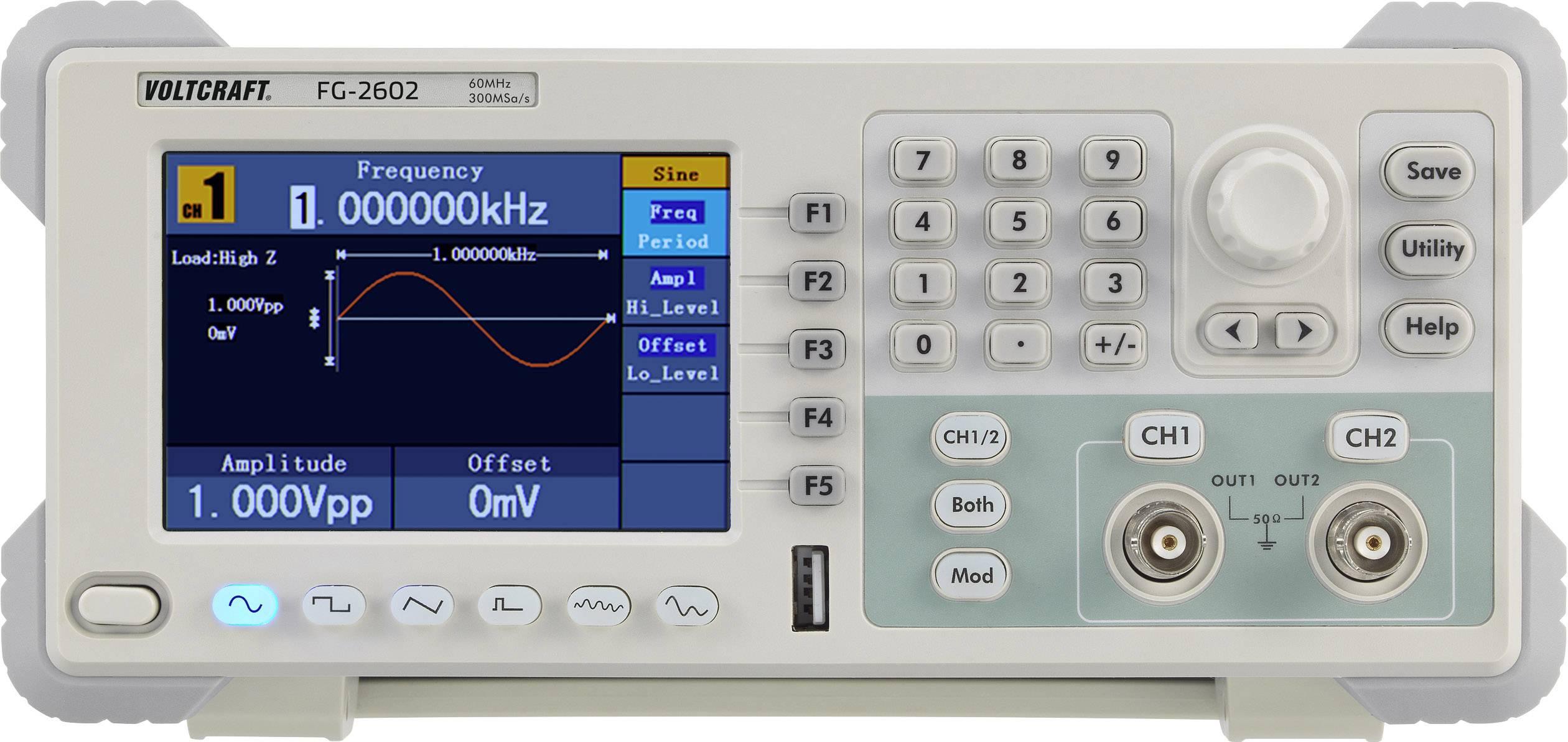 Arbitrátní generátor funkcí VOLTCRAFT FG-2602 2kanálový bez certifikátu