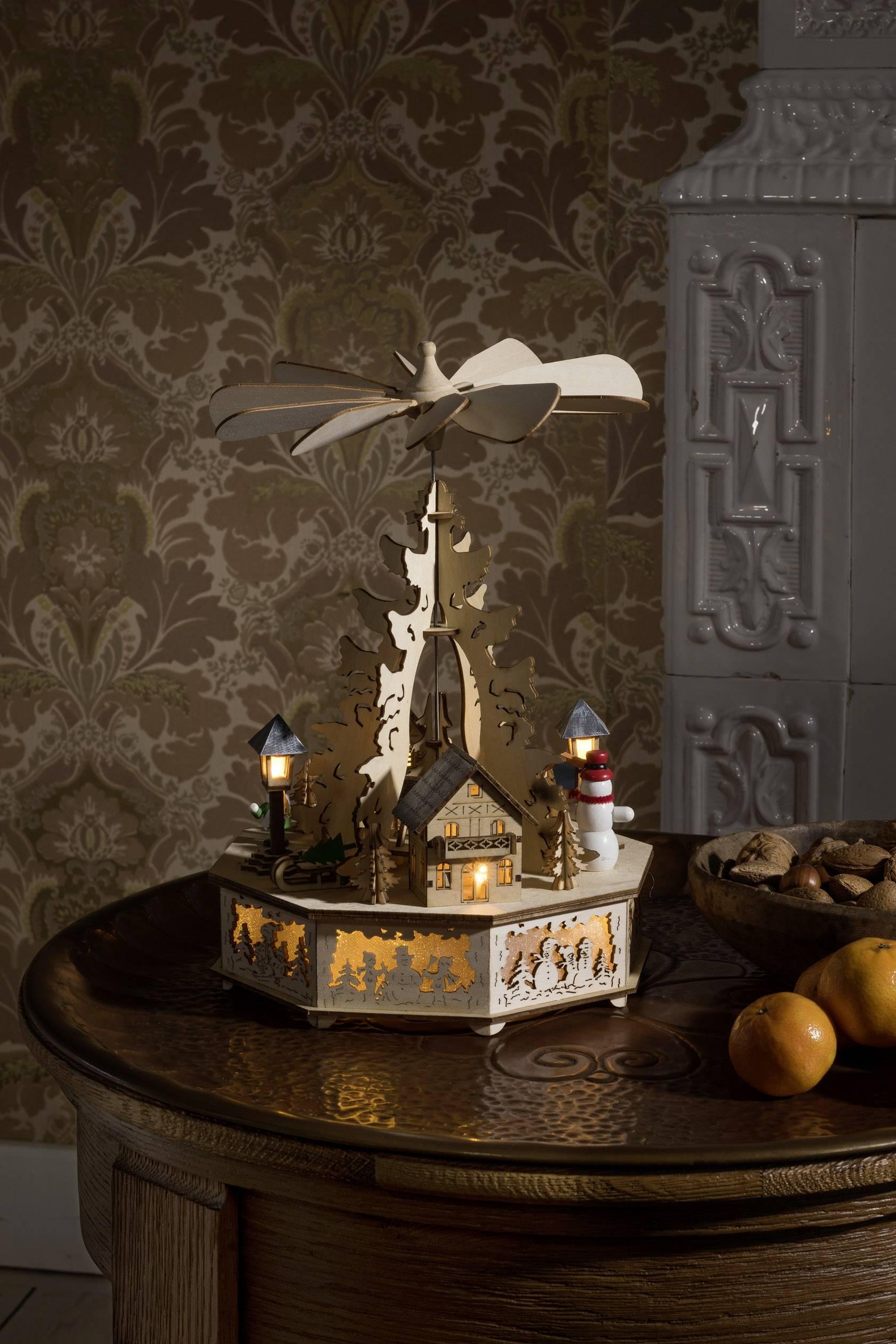 LED vánoční dekorace Konstsmide 3220-100 3220-100, dřevo