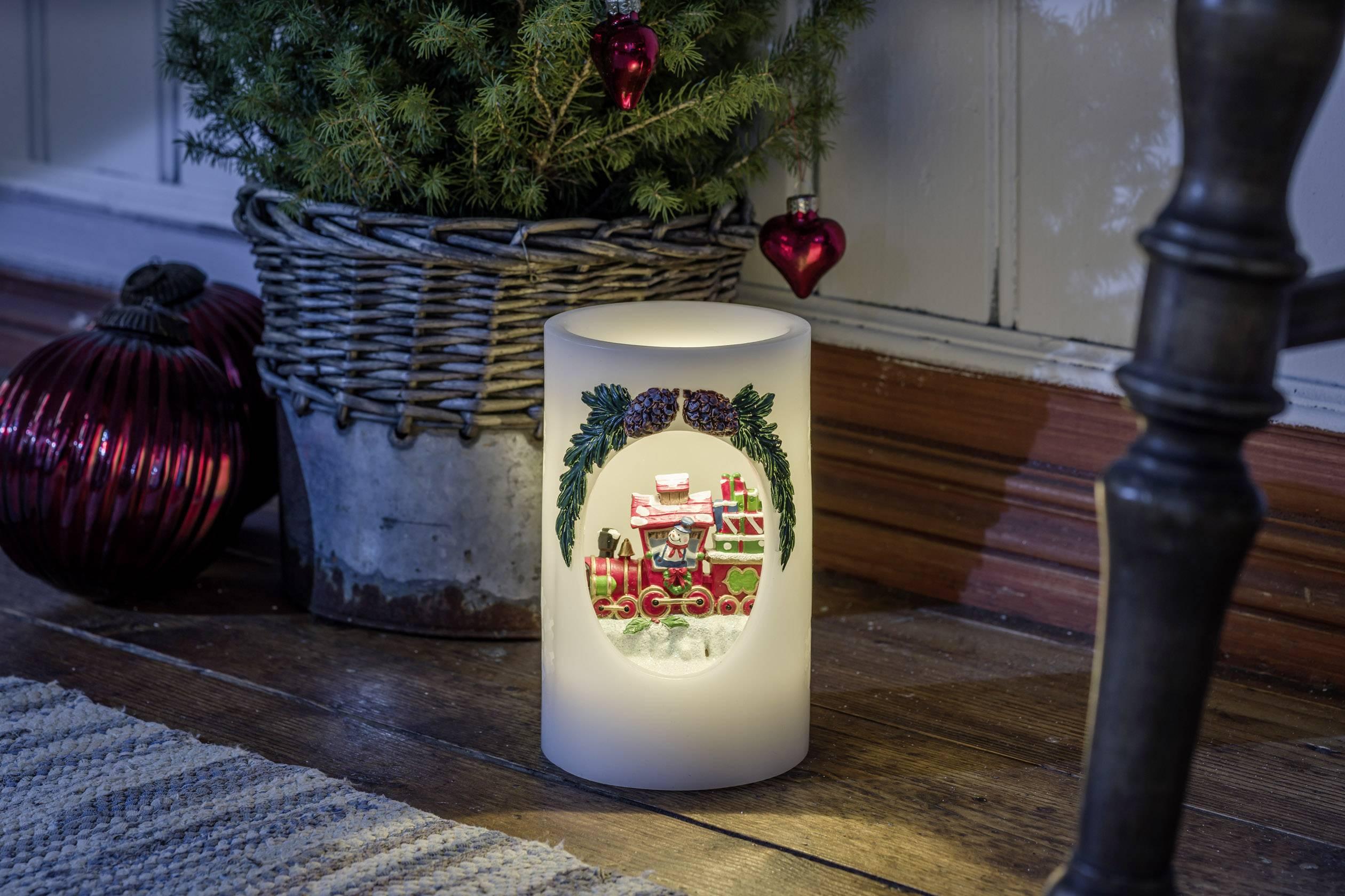 LED vosková svíčka bílá Konstsmide 1890-100 teplá bílá
