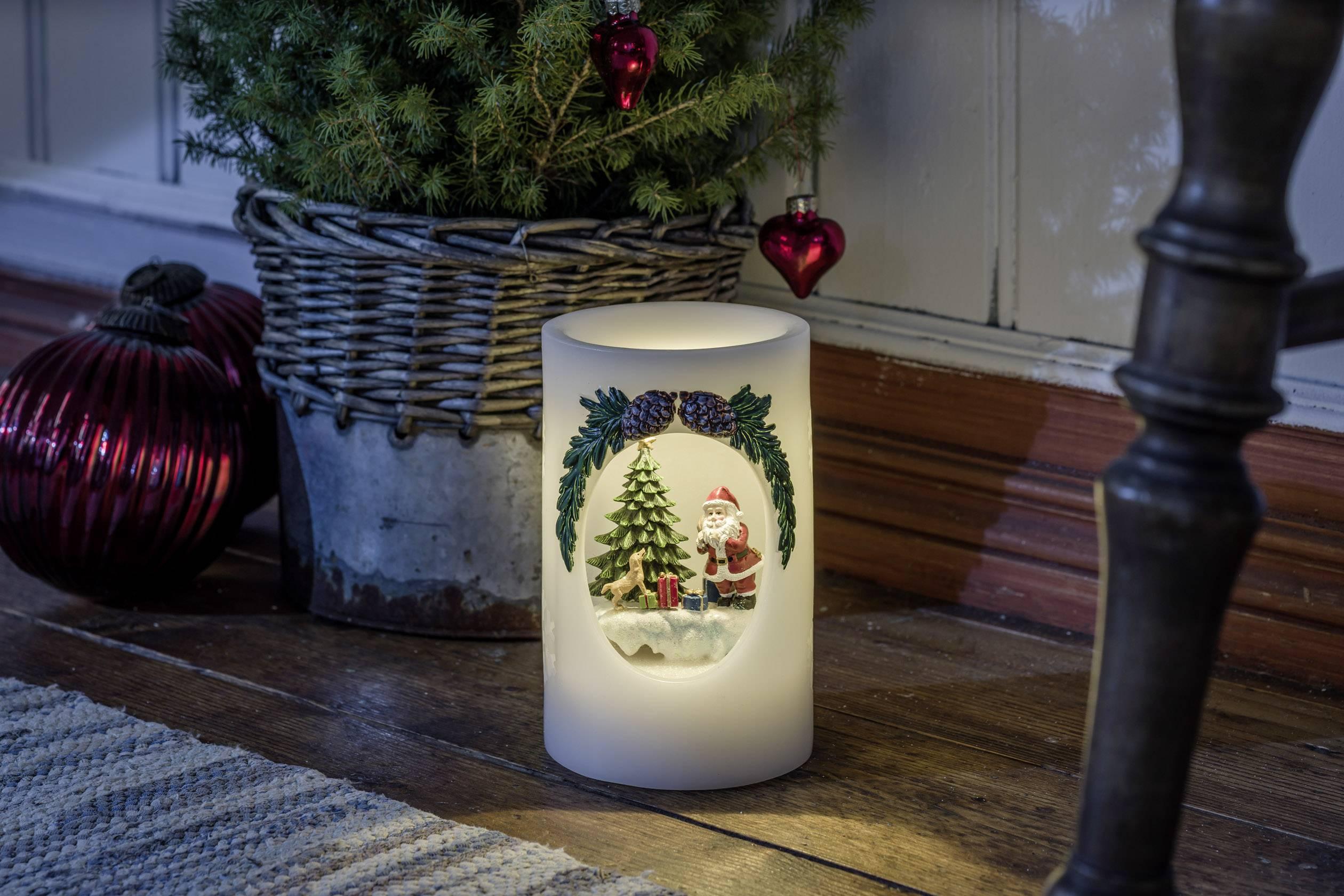LED vosková svíčka bílá Konstsmide 1891-100 teplá bílá