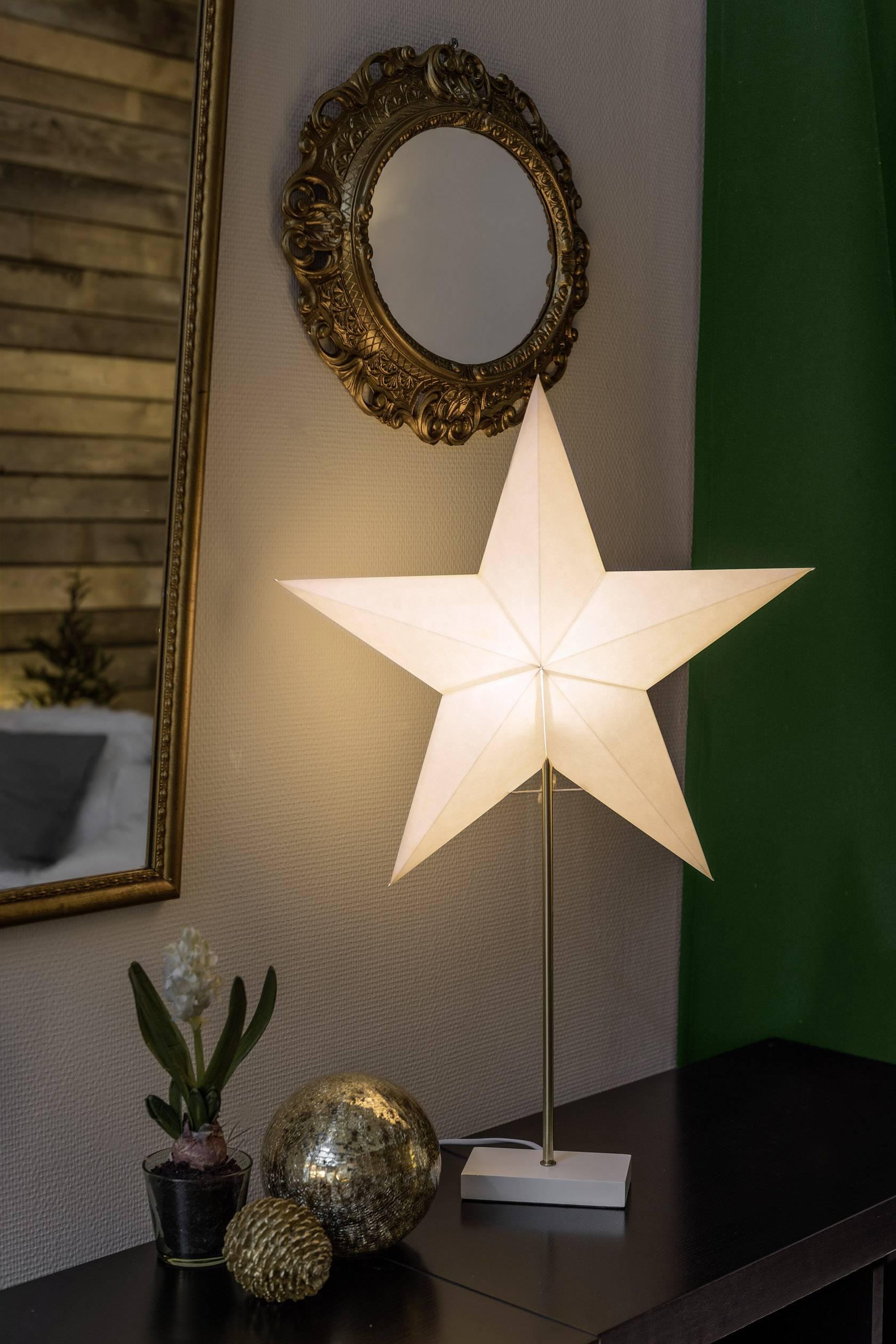 Vánoční hvězda hvězda Konstsmide 1752-220 1752-220, bílá, dřevo