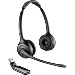 Telefonní headset s USB bez kabelu Plantronics Savi W420-M na uši černá