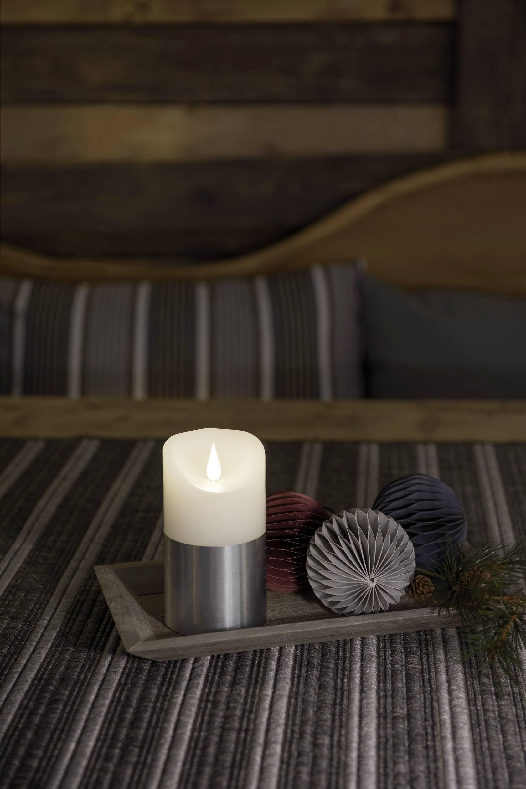 LED vosková svíčka bílá Konstsmide 1820-300 teplá bílá