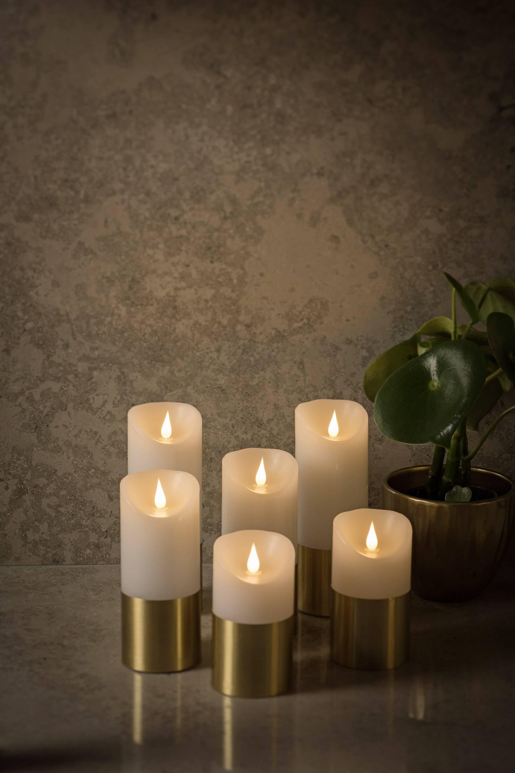 LED vosková svíčka bílá Konstsmide 1820-600 teplá bílá