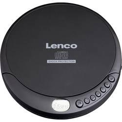 Přenosný CD přehrávač Discman Lenco CD-200, CD, CD-RW, MP3, s USB nabíječkou, černá
