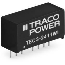 DC/DC měnič napětí do DPS TracoPower TEC 3-2421WI, 24 V/DC, 300 mA, 3 W, Počet výstupů 2 x