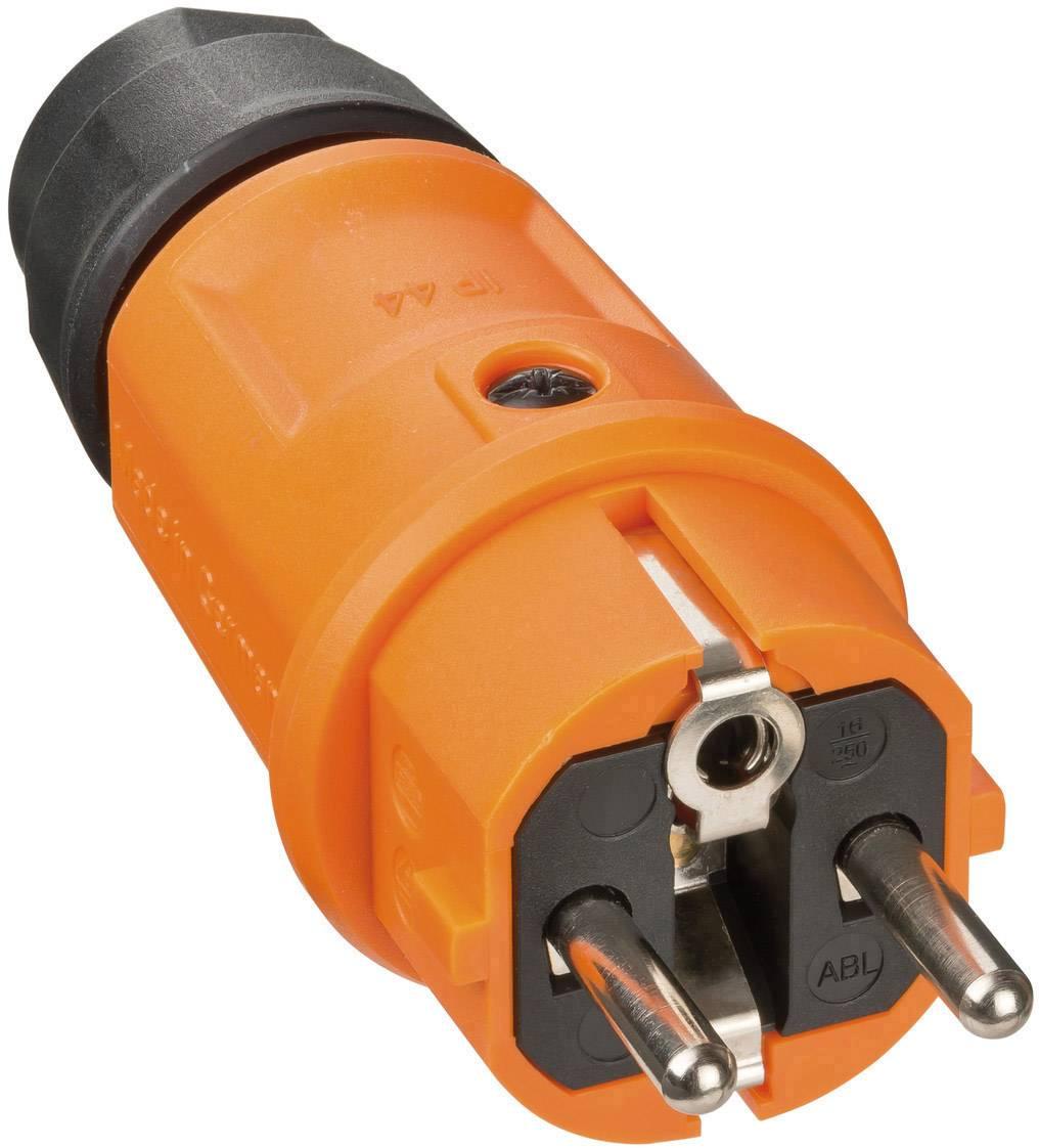 Zástrčka Brennenstuhl 9837560, plast, IP44, 230 V, černá, oranžová