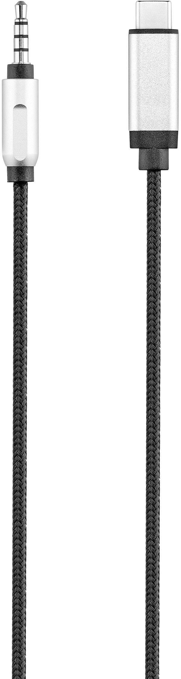 USB / jack audio kabel Renkforce RF-3432030, 1.2 m, černá