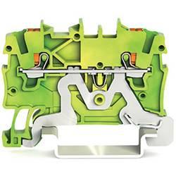 Svorka ochranného vodiče WAGO 2200-1207, pružinové připojení , 3.50 mm, zelenožlutá, 100 ks