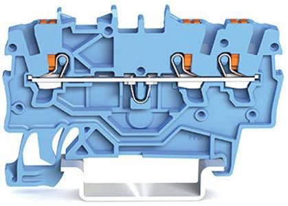 Průchodková svorka WAGO 2200-1304, pružinové připojení , 3.50 mm, modrá, 100 ks