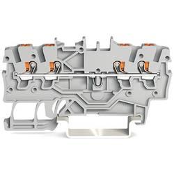 Průchodková svorka WAGO 2200-1401, pružinové připojení , 3.50 mm, šedá, 100 ks