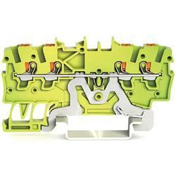 Svorka ochranného vodiče WAGO 2200-1407, pružinové připojení , 3.50 mm, zelenožlutá, 100 ks