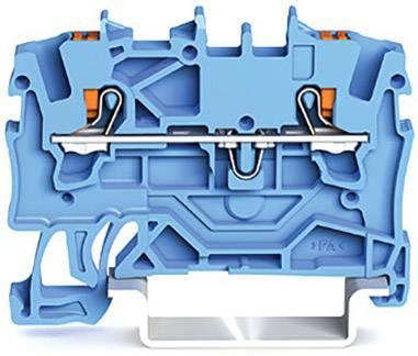 Průchodková svorka WAGO 2201-1204, pružinové připojení , 4.20 mm, modrá, 100 ks