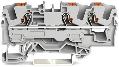 Průchodková svorka WAGO 2206-1301, pružinové připojení , 7.50 mm, zelenožlutá, 1 ks